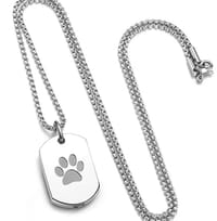 SILVER Stainless Steel Pup Necklace