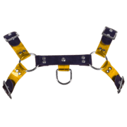 Rubber & Tinted PVC H Style Harness with Yellow Tinted PVC 1